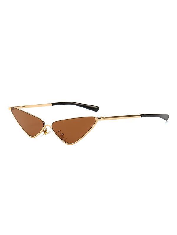 Narrow Triangle Metal Sunglasses