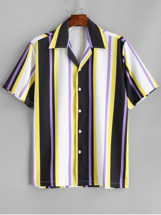 CamisaaRayas Coloridas - Amarillo S
