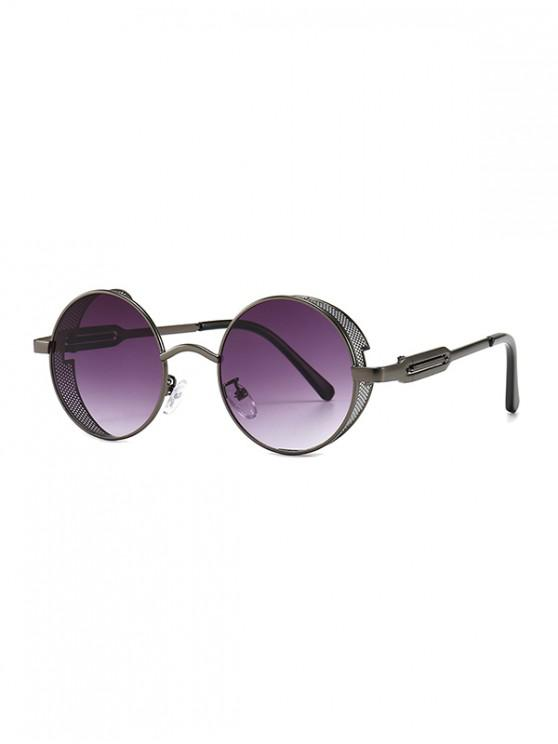 fancy Hollow Out Frame Round Sunglasses - CONCORD