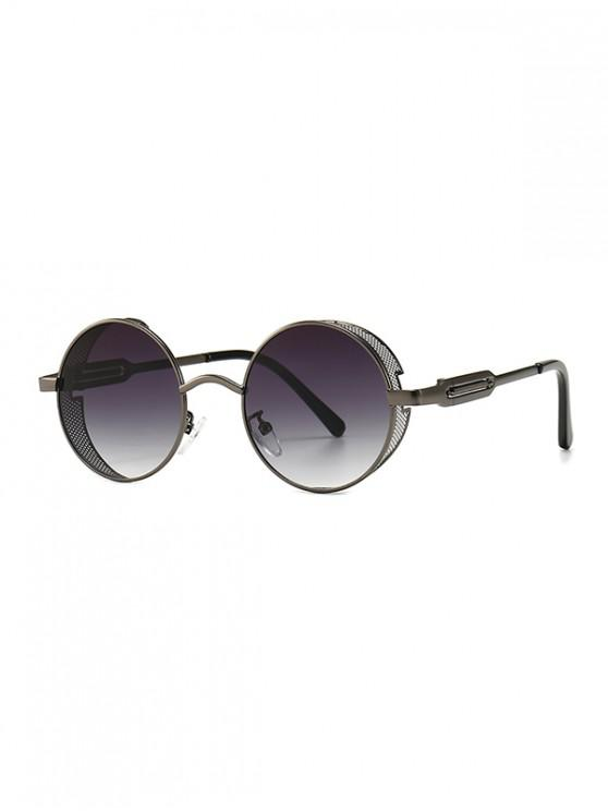 chic Hollow Out Frame Round Sunglasses - GUNMETAL