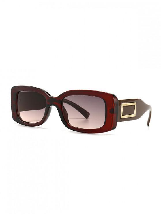 latest Rectangle Decorative Anti UV Sunglasses - BROWN