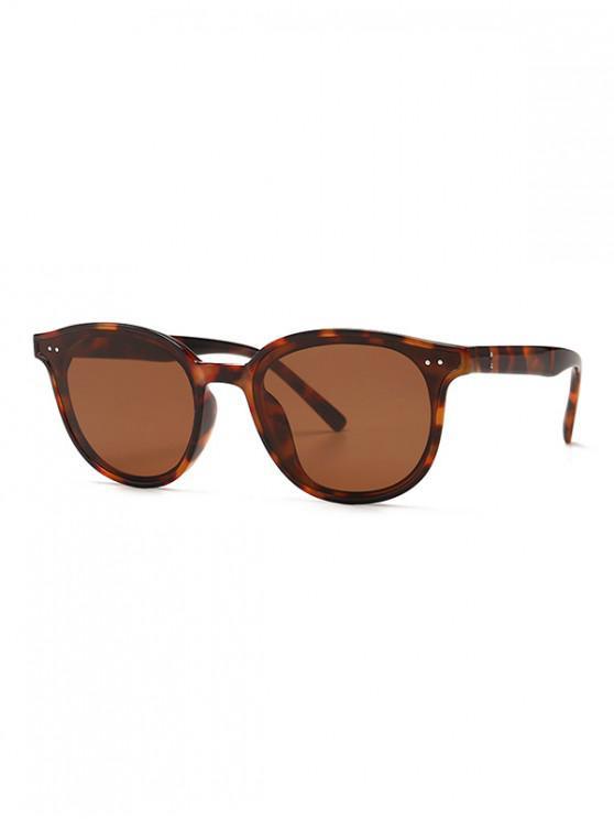 shop Classic Rivet Round Sunglasses - LEOPARD