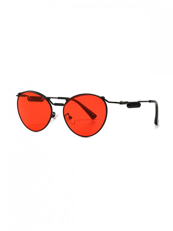 latest Punk Helical Temple Sunglasses - RED