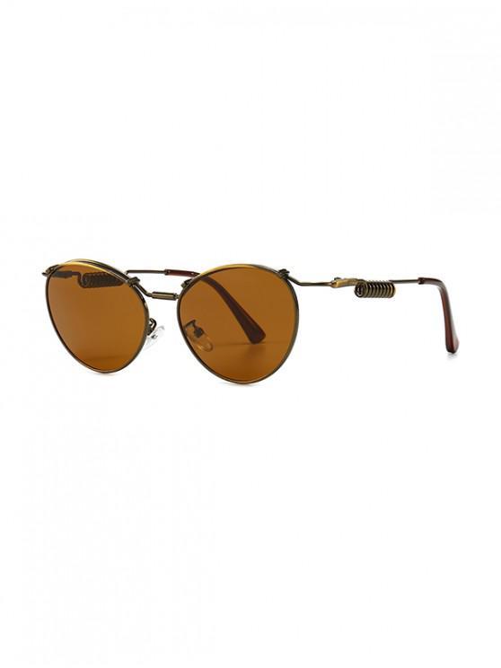 Punk Helical Temple Sunglasses - برونز