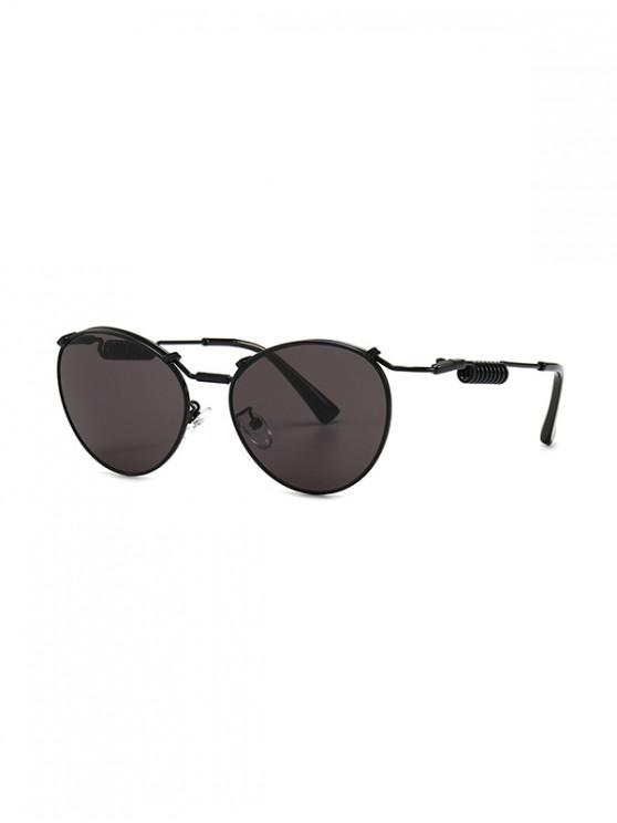 outfits Punk Helical Temple Sunglasses - BLACK