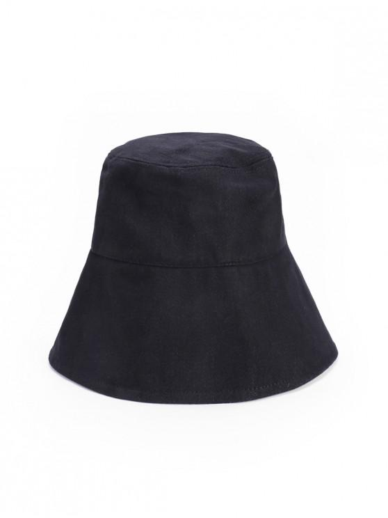 lady Outdoor Lace Up Sun Bucket Hat - BLACK