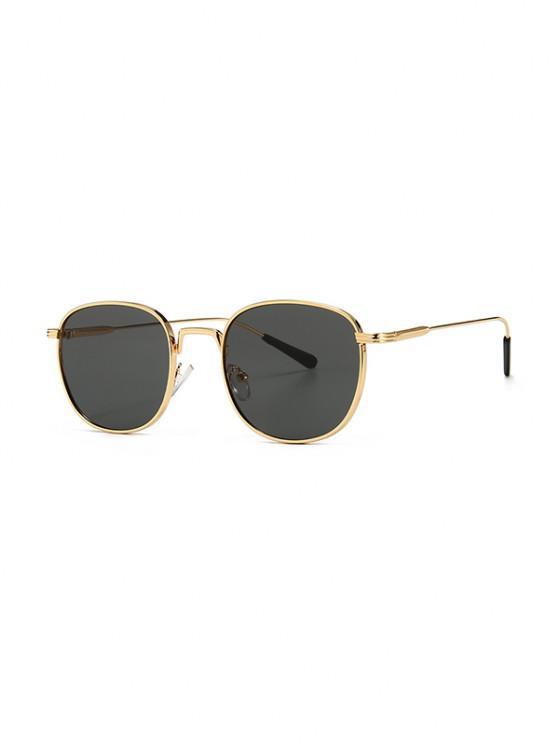 lady Metal Retro UV Protection Sunglasses - BLACK
