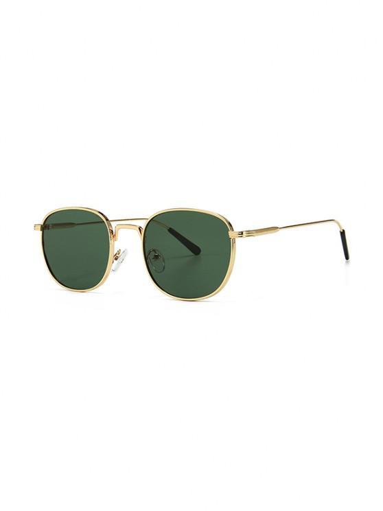 Gafas de Sol Retro con Montura Metálica - Verde Oscuro