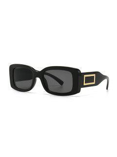 Rectangle Decorative Anti UV Sunglasses - Black