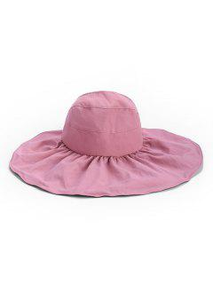 Outdoor Wide Brim Sun Proof Visor Cap - Pink