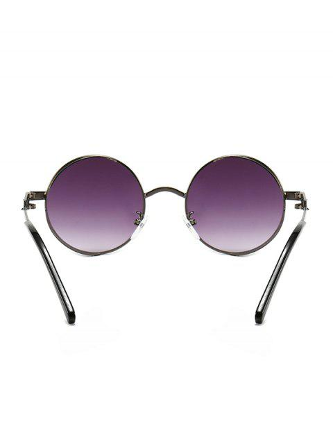 fancy Hollow Out Frame Round Sunglasses - CONCORD  Mobile