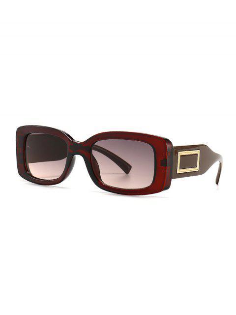 latest Rectangle Decorative Anti UV Sunglasses - BROWN  Mobile