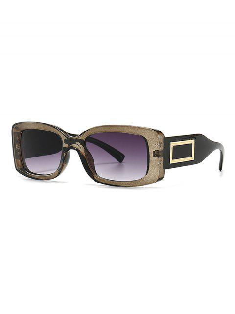 shops Rectangle Decorative Anti UV Sunglasses - GRAY  Mobile