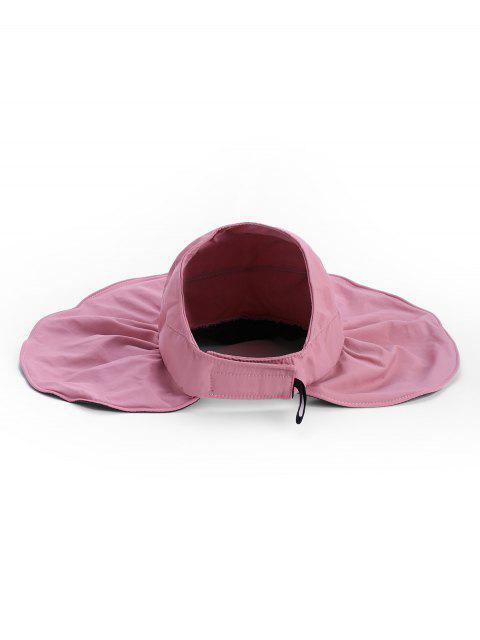 women's Outdoor Wide Brim Sun Proof Visor Cap - PINK  Mobile