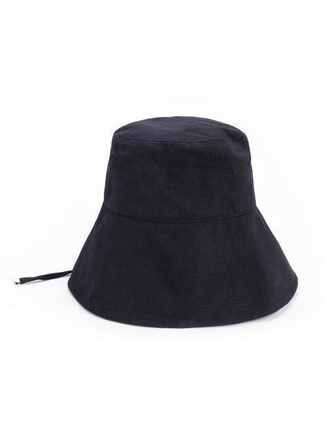 Chapéu De Balde De Laço De Sol Ao Ar Livre - Preto  Mobile