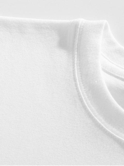 chic Funny Cartoon Animal Print Graphic T-shirt - WHITE XL Mobile