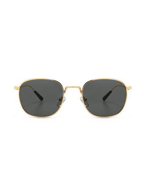 Metall Retro UV Schutz Sonnenbrillen - Schwarz  Mobile
