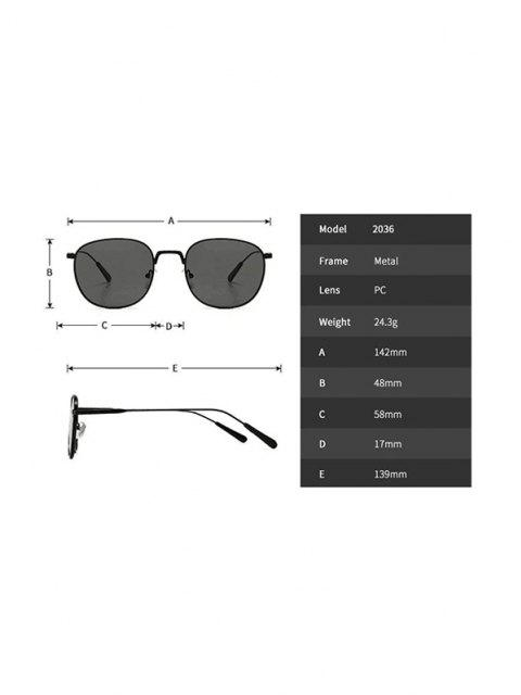 best Metal Retro UV Protection Sunglasses - GRAY  Mobile