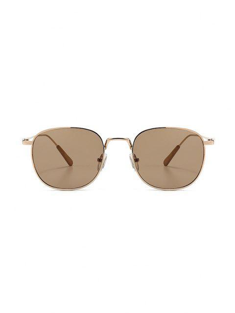 online Metal Retro UV Protection Sunglasses - CHAMPAGNE GOLD  Mobile