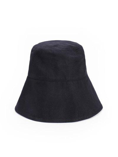 Outdoor Lace Up Sun Bucket Hat - Black