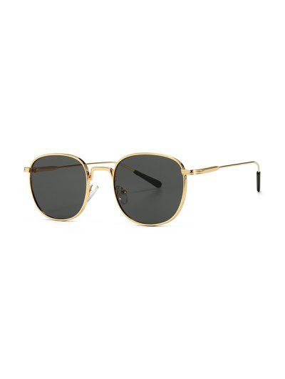 Metal Retro UV Protection Sunglasses - Black