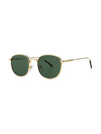 Metal Retro UV Protection Sunglasses - Dark Green