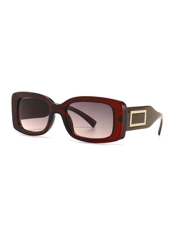 Rectangle Decorative Anti UV Sunglasses
