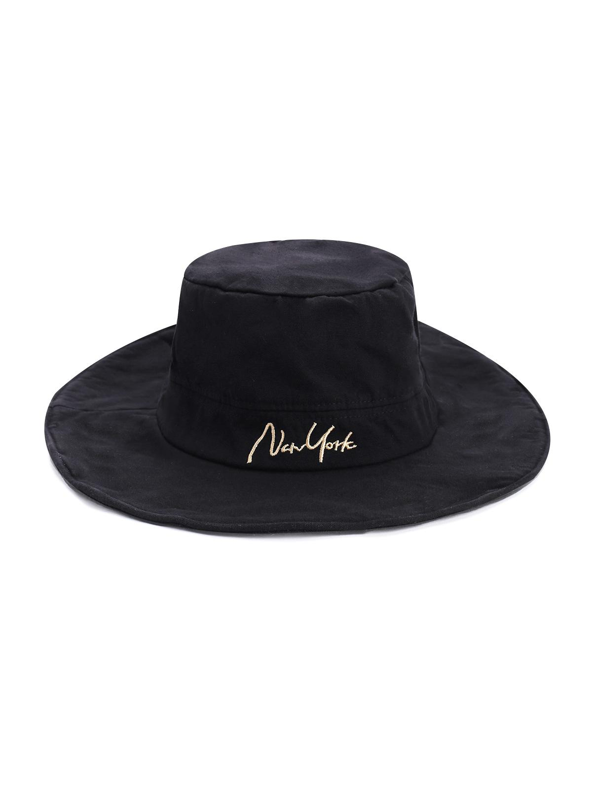Letter Embroidery Outdoor Bucket Hat