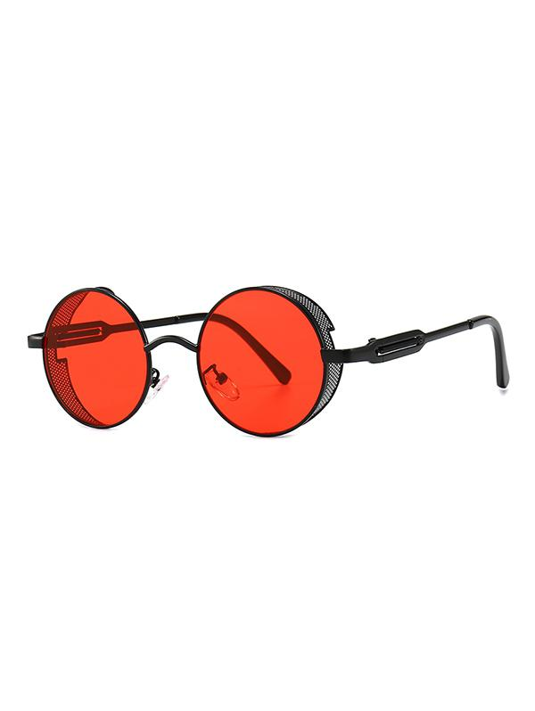 Hollow Out Frame Round Sunglasses