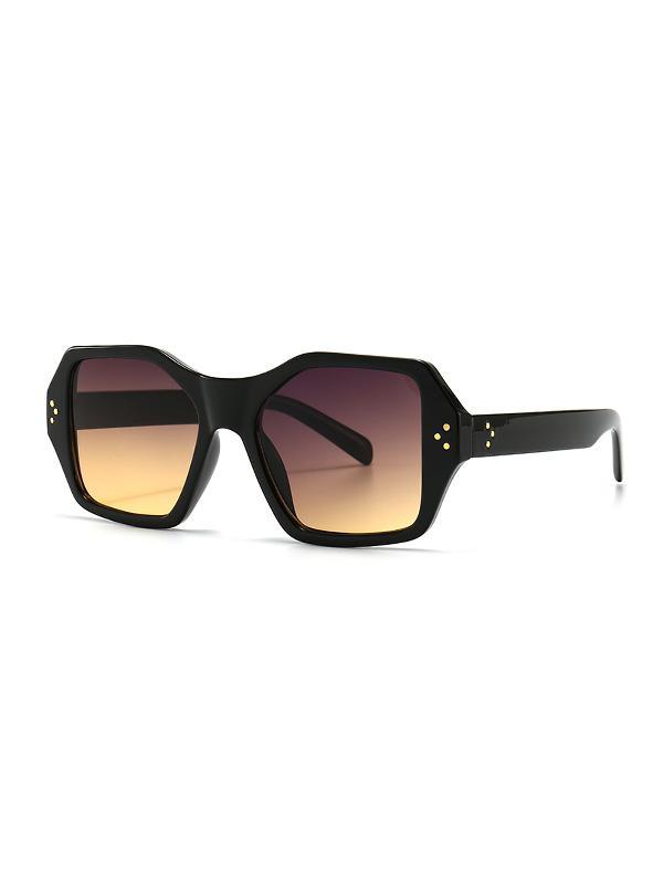 Retro Rivet Square Sunglasses