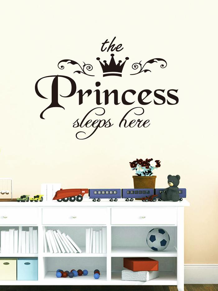 Princess Crown Print Decorative Wall Stickers