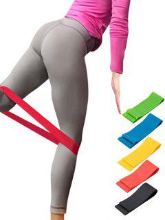 5 Pcs Colorful Yoga Stretch Band Resistance Band - Multi-a