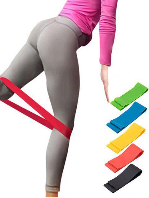 women 5 Pcs Colorful Yoga Stretch Band Resistance Band - MULTI-A  Mobile