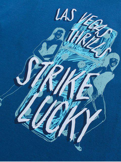 T-shirt Especial de Emagrecimento Emenda de Mangas Curtas para Homens - Azul 2XL Mobile