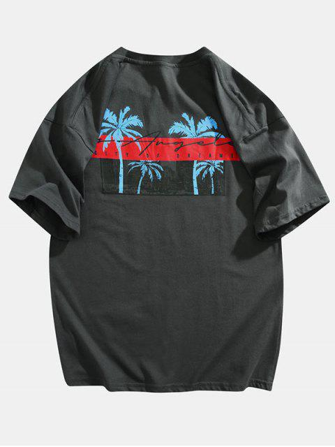 Las Vegas Thrills Strike Lucky Graphic T-shirt - اللون الرمادي 2XL Mobile