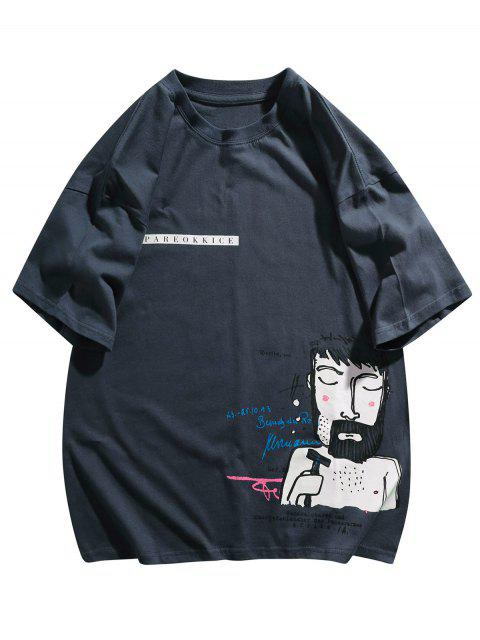 T-Shirt Grafica - Profondo blu 2XL Mobile