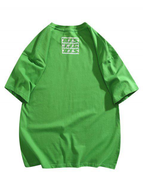 Maglietta Basic con Stampa Grafica - Verde XL Mobile