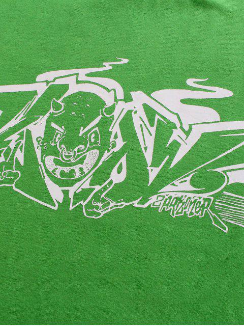 Maglietta Basic con Stampa Grafica - Verde 2XL Mobile