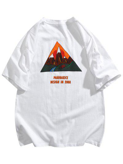 Mountain Graphic Pocket Patch Basic T-shirt - White 2xl