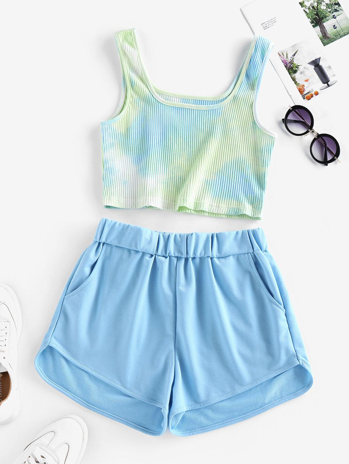 ZAFUL Tie Dye Two Piece Set