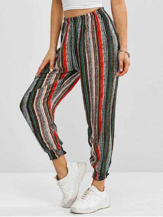 latest Striped Pull On Jogger Pants - MULTI XL