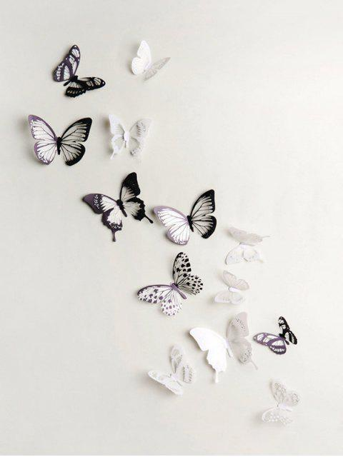 3D Colorful Butterfly Wall Decorative Stickers Set - Multi Colori-A 18pz Mobile