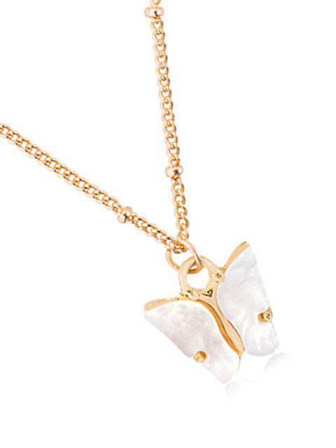 Collar de Cadena de Mariposa de Acrílico Colgante - Blanco  Mobile