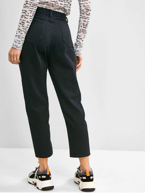 Mom Jeans Básico - Negro M Mobile