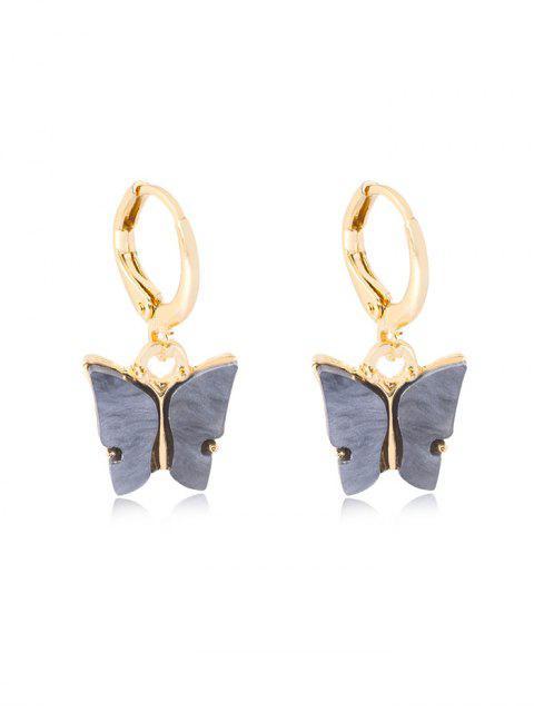 Schmetterling Anhänger Kleine Ohrringe - Kohle Grau  Mobile