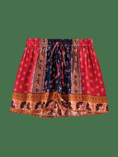 ZAFUL Paisley Printed Drawstring Shorts