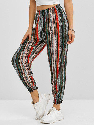 Striped Pull On Jogger Pants - Multi Xl