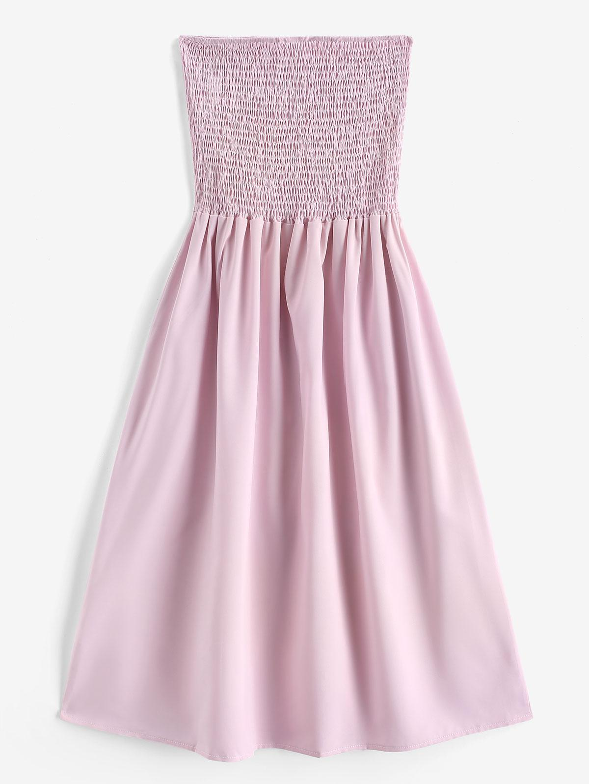 Smocked A Line Tube Dress