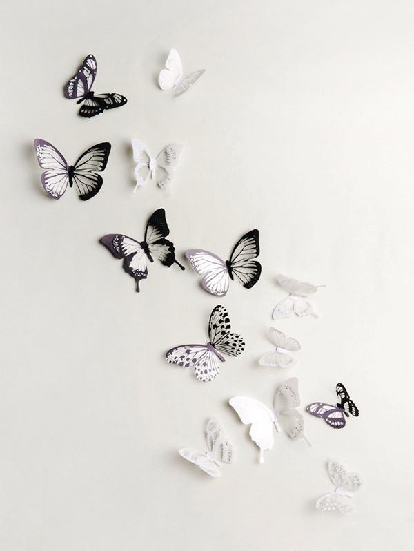 3D Butterflies Background Decorated Wall Stickers