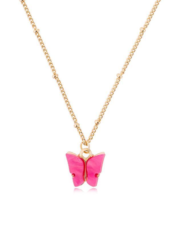 Collier Chaîne Pendant Papillon en Acrylique - Zaful FR - Modalova